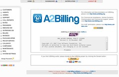 a2billing-welcome-page