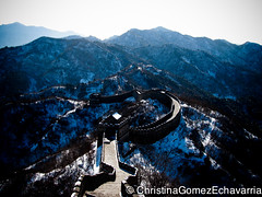 Great Wall Of China (HerMorningElegance.) Tags: china blue winter snow wall greatwallofchina