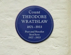 Photo of Theodore Wratislaw blue plaque