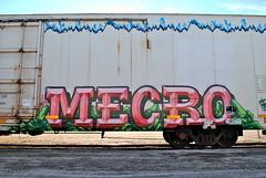 Mecro (208 Bench) Tags: art train graffiti flat rail icicle boxcar graff swine freight reefer cdc mecro tilx