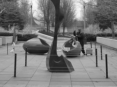 (misterbuckwheattree) Tags: park sculpture chicago man bucket rags streetphotography cleaning towels mop mopping chicagoist mopbucket cleaningday