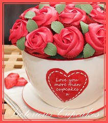 Happy Valentines Day! (Victorious Cupcakes) Tags: hearts cupcakes recipes teacup valentinesday redroses victorious goodtoknow valentinescupcakes rosebouquet cupcakebouquet redcupcakes victoriouscupcakes