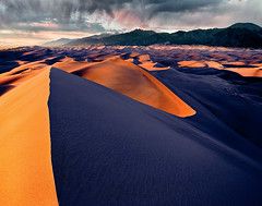Great Sand Dunes NP - 4x5 Velvia 50 drum scan (Zach Boumeester) Tags: park sunset mountains film analog de rockies star sand san colorado fuji desert graphic drum dunes dune great large rocky scan special iso mc velvia chrome national valley transparency fujifilm 4x5 lf crown format luis asa cristo 50 e6 sangre graflex mtns rvp graphlex 75mm rodenstock drumscan f32 rvp50 figital 11n caltar grandagon f68