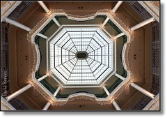 (David.G.Reeves) Tags: christmas uk decorations england abstract london glass architecture floors lights victorian shoppingcentre greenhouse christmasdecorations shoppingmall ornate pillars atrium levels queensway glazing whiteleys