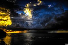 Big storm, golden sunset, gorgeous sky, calm ocean, what a day ! (Teo Morabito) Tags: ocean light sunset sky bali sun storm rain set dark indonesia golden photo nikon warm mood gorgeous great calm excellent capture hdr d90 bingin bestcapturesaoi photosteomorabitocom wwwphotosteomorabitocom wwwteomorabitocom teomorabito