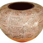 "<b>Jar</b><br/> Juana Leno ""Jar"" Acoma polychrome, 1970? LFAC #1995:08:05<a href=""http://farm8.static.flickr.com/7146/6852265055_94880649b6_o.jpg"" title=""High res"">∝</a>"