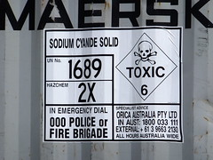 UN1689 - Sodium Cyanide Solid! (stevenbrandist) Tags: mining container poison shipping hazard hazchem cyanide orica unnumbers