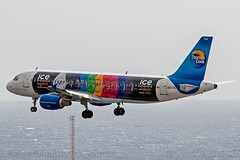 """OO-TCH, Thomas Cook Airlines Belgium, Airbus A320-214 - cn 1929. """"Expirience""""/""""Ice Watch"""" (dahlaviation.com) Tags: airplane spain aircraft aviation airplanes airbus tenerife canaryislands spotting a320 aircrafts thomascook gcts thomascookairlinesbelgium"""