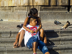 IMG_1111 Young couple and pigeons at cathedral of san francisco Lima Peru (camera30f) Tags: history love peru birds inca youth yahoo google ancient san francisco couple holidays flickr cathedral lima photos young lovers spanish baidu
