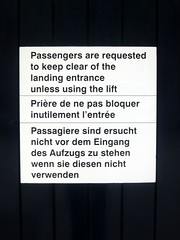 Passengers are requested (the Magnificent Octopus) Tags: york station sign design br rail signage british alphabet