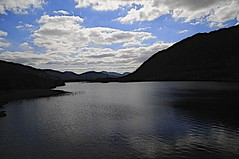 LAKE SILHOUETE (conespider) Tags: lake water clouds landscape outside nikon outdoor silhouete hills westcoast southernireland 2016