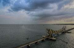 Cloud Play - Rameshwaram (Well-Bred Kannan (WBK Photography)) Tags: ocean travel bridge sea sky india seascape water architecture sunrise landscape seaside railway d750 coulds rameshwaram rameswaram kannan travelphotography dhanushkodi wbk incredibleindia wbkphotography