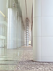 Ambient Ethereal Field of Sonic Mysterium (Isabelle de Touchet) Tags: white glass architecture canon losangeles geometry perspective officebuilding marble deathstar centurycity gensler caa avenueofthestars canonpowershotsx50hs isabelledetouchet caaoffices genewatanabe