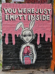 You were just empty inside.... (stillunusual) Tags: uk travel england urban streetart london wall graffiti mural streetphotography wallart urbanart shoreditch bricklane 2016 travelphotography ldn travelphoto urbanwalls londonstreetart travelphotograph pedleystreet londonstreetphotography wallporn graffitiporn