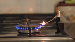 141/366: fire (Andrea  Alonso) Tags: original house selfportrait me fire casa cook manipulation cocina inside 365 autorretrato edit minime edicion miniyo 366