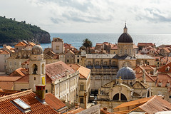 Dubrovnik, Croatia (DitchTheMap) Tags: street old city travel blue roof red sea summer vacation sky urban house building tower history tourism home church stone wall architecture tile square coast town ancient europe flickr mediterranean cityscape view cathedral culture croatia landmark aerial medieval historical walls dubrovnik easterneurope adriatic 2016
