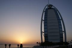 Burj al Arab at sunset (Tomasz Odziemczyk) Tags: al dubai arab burj