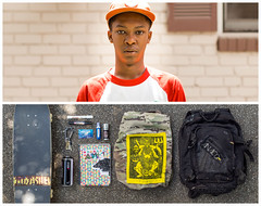 Akobi Diptych (J Trav) Tags: atlanta portrait persona kid diptych whatsinyourbag skateboarder theitemswecarry showusthecontentsofyourbag