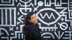 Annabel  on B&W (Theen ...) Tags: black brick art smile wall project lumix eyes paintings murals fringe human figure symbols annabel glyphs theen kenttown littlerundlestreet paintingswhite