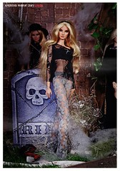 AHS CoVEN Misty (Michaela Unbehau Photography) Tags: new old black fashion misty dark photography is doll dolls fotografie witch lace gothic story american horror giselle fashiondoll fr coven royalty michaela diorama dollhouse hexe fr2 nuface unbehau
