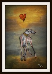Love is ......... (patrick.verstappen) Tags: dog pet art animal watercolor painting photo yahoo nikon flickr heart belgium painted sigma textures textured airbrush facebook picassa paintng galgo ipernity d7100 pinterest ipiccy