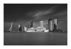 AIDA - Rotterdam Black&White (P1nc) Tags: longexposure cruise skyline blackwhite rotterdam ship erasmus zwartwit maas aida cruiseschip dsc0309bw