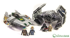 LEGO 75150 Vader's TIE Advanced vs. A-Wing Starfighter (The Brothers Brick) Tags: star lego tie vs wars vaders advanced 2016 starfighter awing 75150