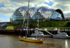 The Sage Gateshead (Tony Worrall Foto) Tags: county uk england building wet water architecture river newcastle boat stream ship tour open place country north over arts scenic visit scene location sage gateshead event area float northern update northeast attraction the thesagegateshead welovethenorth