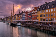 Copenhagen (nureco) Tags: nyhavn copenhagen kbenhavn sunset solnedgang clouds city cityscape water colorful colors sun summer night ship danmark denmark sonydenmark sonyalpha visitdenmark nureco discover getoutside