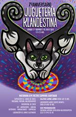 JUGUETERA KLANDESTINA (telly negotrpica) Tags: gato gata felini afiche