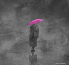 Dharma (h.koppdelaney) Tags: life pink art rain digital umbrella photoshop hope mirror solitude pin peace play friendship symbol nirvana spirit buddha magic religion picture monk buddhism philosophy lila help wisdom awareness metaphor dharma psyche symbolism samsara confidence psychology archetype koppdelaney