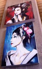 Japan series - 'Tokyo Neon' and 'Tokyo Blue' (Dan Kitchener - DANK) Tags: blue art japan tokyo neon paintings canvas spraypaint dank kotori tokyoneon dankitchener danielkitchener tokyoblue 1xrun