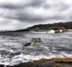 Turbulent water (Arnfinn Lie, Norway) Tags: ocean autumn sea sky house storm nature water norway waves windy saltwater rogaland greatphotographers tungenes carlzeiss1680mm sonya77 mygearandme mygearandmepremium mygearandmebronze mygearandmesilver arnfinnlie