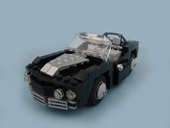 Black Convertible (aabbee 150) Tags: black car lego muscle convertible 150 1967 foitsop aabbee