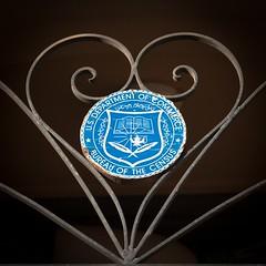Any Consensus? (Sam Breach) Tags: sanfrancisco blue sign iron commerce heart bureau guesswheresf shape foundinsf whereami census wrought gwsf usdepartmentofcommerce bureauofthecensus