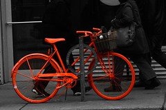 The orange bicycle    (Parisa Yazdanjoo) Tags: orange bicycle   decorativebicycle