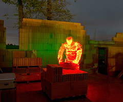 Construction de la maison (apophisnico) Tags: light woman lightpainting men lumire femme bretagne brique maison mur homme habitation lightman murbrique lightmen maitredoeuvre sonya77 bretagnehabitation bretagnehabitationrennes