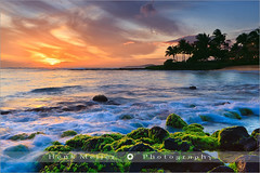 Sunset Poipu Beach - Kauai - Hawaii (~ Floydian ~ ) Tags: ocean blue light sunset red sea vacation usa tourism beach water clouds america canon landscape lights hawaii glow view pacific postcard romance kauai postcards poipu viewpoint meijer henk eveninglight poipubeach holdiday floydian proframe proframephotography leefilters canoneos1dsmarkiii henkmeijer