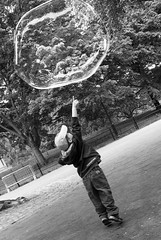 Bubble Boy (D.J. De La Vega) Tags: park new leica york central bubble x1 manahattan