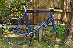 Hillman DS (ah_blake) Tags: road blue bike bicycle 531 frame singlespeed fixed fixie velocity hillman aerohead pantographed