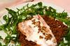 Salmon for supper (Carmelita Cookitaly) Tags: rocket rucola lentils arugula rughetta slamon lenticchie italianfoodhomecookingcookitalycomfooding