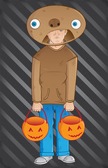 Halloween 2011 (Jacob Reid) Tags: halloween pumpkin costume candy trickortreat jeans hoody freckles grumpy