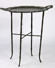 72. Maitland-Smith Bronze Tray Top Side Table