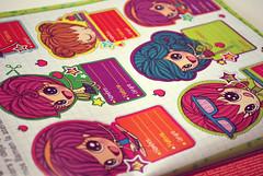Etiquetas escolares (Anita Mejia) Tags: school girls illustration ilustracion vietas spotillustration escolares calcamonias revistatu chocolatita estiquetas anitameja tumagazine