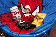 December 15, 2011 (KrystaNikole) Tags: christmas red spiderman coke chips elf videogames cocacola lays playstation