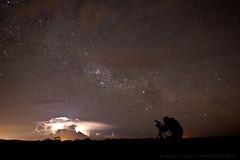 Lightning, Stars & Cameraman (Robert Lang Photography) Tags: stars australia lightning cameraman markthomas portlincoln eyrepeninsula missinglinkmedia