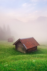 Misty Mountains (mibreit) Tags: summer mist mountains alps green nature grass fog germany landscape nebel hiking sommer natur berge alpen landschaft wandern karwendel geroldsee