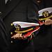 Navy ROTC graduates enter the RBC Center for Winter Commencement.