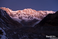 Annapurna I (8 091m) @Sunrise - 10th Highest Mountain in the World (GlobeTrotter 2000) Tags: world trip travel nepal sunset camp vacation mountain snow cold tourism ice expedition nature sunrise trekking trek landscape dawn one climb frozen twilight asia heaven outdoor hiking altitude dramatic visit glacier adventure mount explore climbing journey summit abc 10th peaks himalaya circuit everest range pokhara base sanctuary anapurna highest himal i