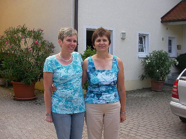 Frau Selz mit Urlaubsgast